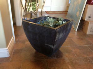 Downsize Mvg sale - lg metal plant pit vase and more
