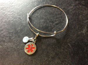 Medical Alert Adjustable Bracelet (Alex & Ani Style)