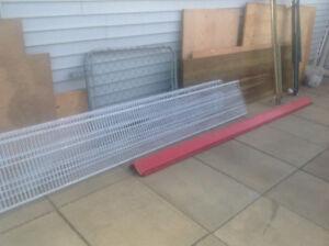 Metal Red Flange 8or10 feet long.