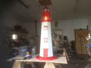 6ft tall newly built wired lighthouse