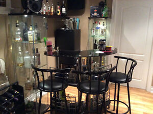 Complete bar set with fridge