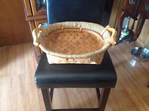 Two Handle Wooven Basket
