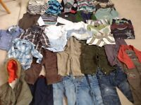Bundle of baby boy clothes 12-18 months.