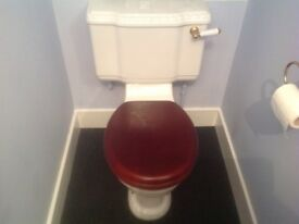Cloakroom toilet suite