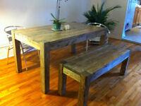 TABLE MODERNE BOIS STYLE LOFT - DOIT PARTIR !