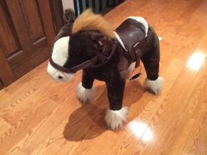 Large Plush Horse with Neighing, Gallop and Lone Ranger Sound
