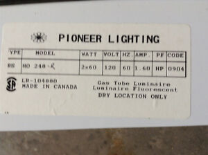 Industrial fluorescent light fixtures Kawartha Lakes Peterborough Area image 2
