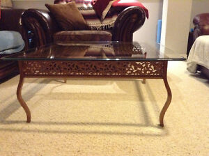 Wrought Iron Square Coffee Table