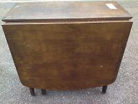 Vintage mid century modern dark wood dining table