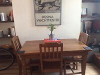 Small wooden table with 3 chairs