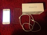 iPhone 5S 16GB Silver with box USB charger lead on EE