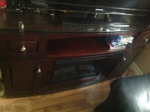 Entertainment Unit with built-in Electric Fireplace for sale