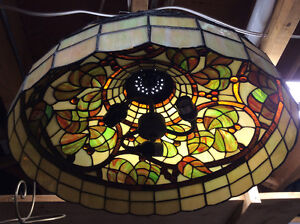 Unique Tiffany style stained glass light
