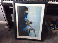 Lovely framed ballerina picture
