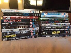 DVDs marvel family guy dc