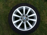 BMW 5 series F10/F11 18 inch alloy wheel with runflat tyre