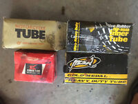 Four motorcycle tubes