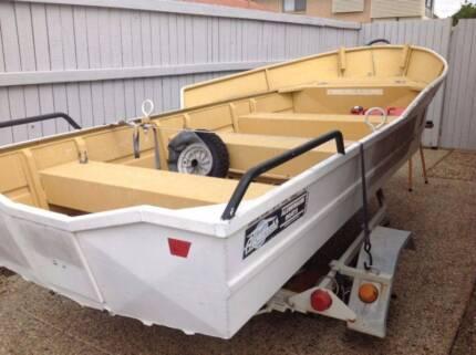 12 ft Tinnie and trailer Mercury 3.3