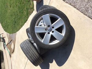 """17"""" Passat VW Wheels with 235/45R 17 Continental ContiPro Tires"""