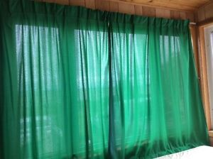 Pleaded Green Curtains