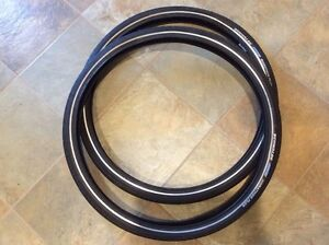 Two Schwalbe marathon plus bike tires 26 x 1.75