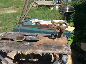 ANTIQUE BROOKS & GALLEY BEAM SCALE FOR PARTS OR RESTO.