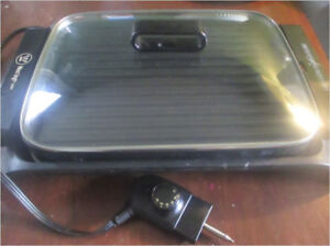 Westinghouse Cast Iron Indoor Electric Grill and Griddle