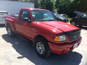 2002 Ford Ranger Edge 4x2  stepside, NEW MVI  3.0 litre 131 km