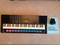 YAMAHA PSS 780 SYNTH KEYBOARD WITH POWER ADAPTOR & INSTRUCTIONS