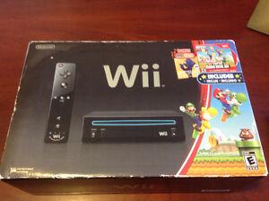 Nintendo Wii (black) w/ Super Mario Bros