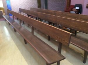 Red Oak Church Pews (disassembled)