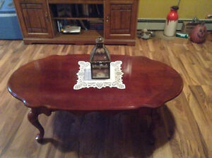 Matching Mahogany Coffee and End Table