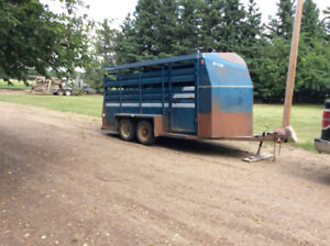Repeat add can't find REDUCED 16 ft Steel stock trailer