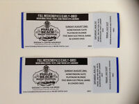 PARLEE BEACH MUSIC FESTIVAL - 2 Tickets for sale