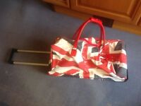 UNION JACK TRAVEL HOLDALL / BAG with WHEELS / SPORTS BAG, PORTABLE