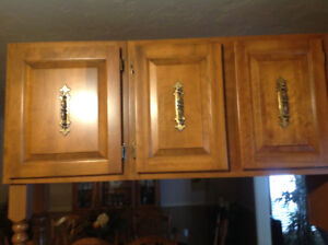 Solid maple cupboards