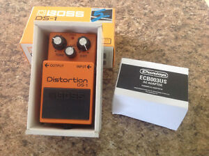 Boss DS-1 Distortion with adapter