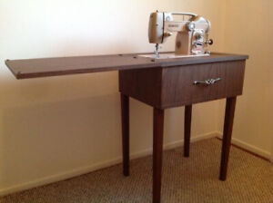 Special 1964 WHITE sewing machine with original sewing table