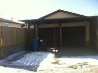 INSULATED Spacious Double Garage WT EXTRA CAR PORT