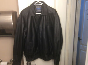 LIMITED EDITION BUILT FORD TOUGH LEATHER JACKET SUPER RARE SZ LG