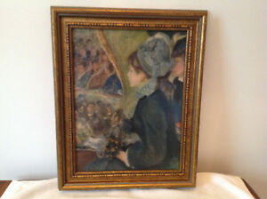 Renoir painting (print)  canvas