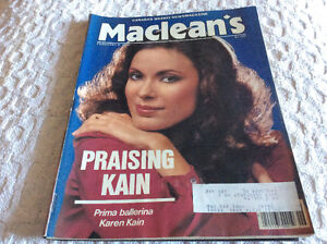 Two 1980's Maclean's Magazines
