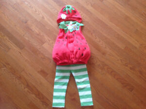 Cute strawberry toddler Halloween costume 2T-3T