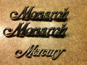 Mercury Monarch emblems