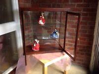 Glass display cabinet.