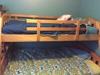 Single over Double Solid Wood Bunkbeds; Furniture