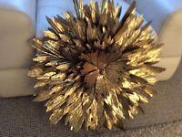 Gold 3D Flower Wall Art