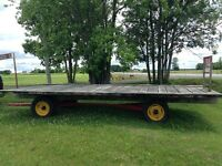 HAY WAGON 8X19 FT.EXCELLENT CONDITION.GOOD TIRES