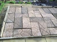 Used 38 concrete cracked ice paving slabs & 12 edging stones BUYER COLLECT