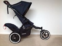 Phil & Ted Navigator 2.0 Navy Blue double pushchair